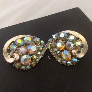 Beautiful! Aurora Borealis vintage earrings